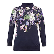 Buy Ted Baker Flissio Botanical Trail Jumper, Navy Online at johnlewis.com