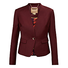Buy Ted Baker Deliha Edge To Edge Jacket, Oxblood Online at johnlewis.com