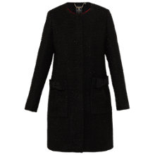 Buy Ted Baker Tenzin Bow Pocket Coat, Black Online at johnlewis.com