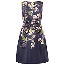 Buy Ted Baker Nillye Botanical Trail Bow Dress, Navy Online at johnlewis.com