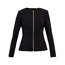 Buy Ted Baker Taalii Textured Jacket, Black Online at johnlewis.com