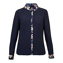 Buy Ted Baker Takala Botanical Trail Shirt, Navy Online at johnlewis.com