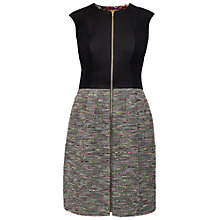 Buy Ted Baker Kyokod Boucle Front Zip Dress, Black Online at johnlewis.com