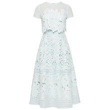 Buy Ted Baker Jenelle Layered Lace Midi Dress, Pale Green Online at johnlewis.com