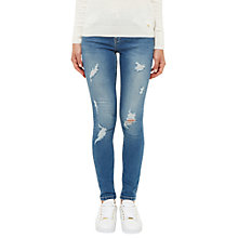 Buy Ted Baker Abrasion Detail Jeans, Mid Blue Online at johnlewis.com