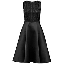 Buy Ted Baker Sopia Embroidered Bodice Dress, Black Online at johnlewis.com