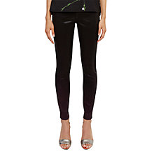Buy Ted Baker Ombray Ombré Skinny Jeans, Deep Purple Online at johnlewis.com