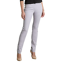 Buy Pure Collection Zara Slim Leg Jeans, Lilac Online at johnlewis.com