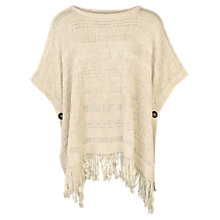 Buy Fat Face Freya Poncho, Ivory Online at johnlewis.com