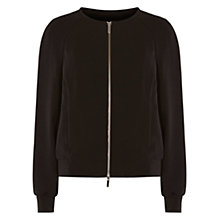 Buy Karen Millen Modern Tailoring Bomber Jacket, Black Online at johnlewis.com