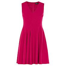 Buy Karen Millen Draped Front Folded Dress, Pink Online at johnlewis.com