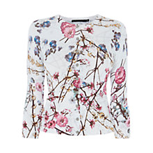 Buy Karen Millen Oriental Print Cardigan, Multicolour Online at johnlewis.com