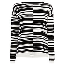 Buy Karen Millen Block Stripe Jumper, Black/Ivory Online at johnlewis.com