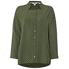 Buy White Stuff Wilding Shirt, Kale Green Online at johnlewis.com