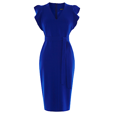 Karen Millen Belted Pencil Dress, Blue