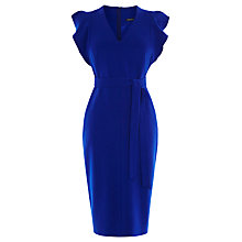 Buy Karen Millen Belted Pencil Dress, Blue Online at johnlewis.com