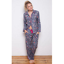 Buy Cyberjammies Louisa Pansy Print Pyjama Set, Grey/Multi Online at johnlewis.com
