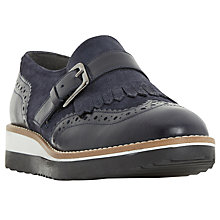 Buy Dune Glenros Monk Shoes, Blue Online at johnlewis.com