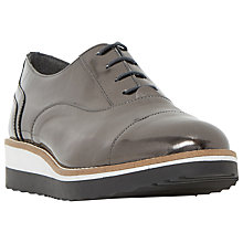 Buy Dune Furley Lace Up Flatform Brogues, Pewter Metallic Online at johnlewis.com