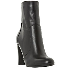 Buy Dune Otto Block Heeled Ankle Boots, Black Online at johnlewis.com