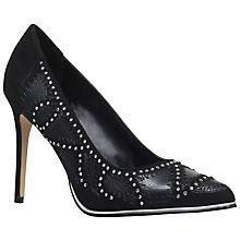 Buy KG by Kurt Geiger Bindy High Heel Court Shoes, Black Studded Online at johnlewis.com