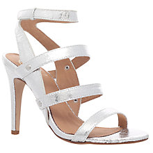 Buy KG by Kurt Geiger July Occasion High Heel Sandals, Silver Online at johnlewis.com