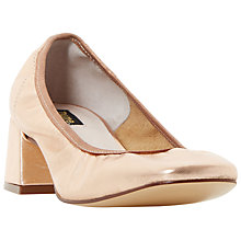 Buy Dune Black Artie Block Heel Court Shoes Online at johnlewis.com