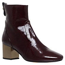 Buy Carvela Strudel Blocked Heel Ankle Boots, Wine Online at johnlewis.com