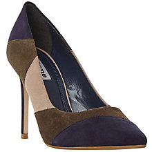 Buy Dune Azzra Pointed Toe Stiletto Court Shoes,  Khaki Suede Online at johnlewis.com