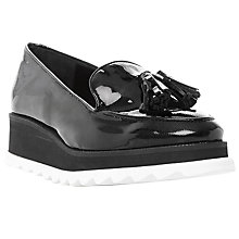 Buy Dune Black Glazed Stud Tassel Loafers Online at johnlewis.com