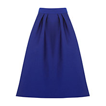 Buy Oasis Satin Full Midi Skirt, Cobalt Blue Online at johnlewis.com