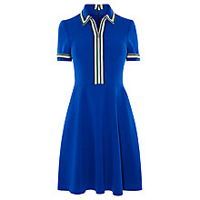 Buy Karen Millen Polo Shirt Dress, Blue Online at johnlewis.com