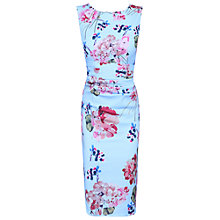 Buy Jolie Moi Floral Ruched Shift Dress, Blue Online at johnlewis.com