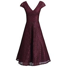 Buy Jolie Moi 50s Cap Sleeve Lace Dress, Dark Red Online at johnlewis.com