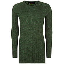 Buy Jaeger Split Hem Jumper, Green Online at johnlewis.com