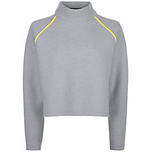 Buy Jaeger Boiled Wool Cropped Sweater, Grey Online at johnlewis.com