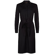 Buy Jaeger Cotton Silk Shirt Dress, Black Online at johnlewis.com