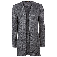 Buy Jaeger Split Hem Edge To Edge Cardigan, Grey Online at johnlewis.com
