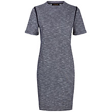 Buy Jaeger Tipping Detail T-Shirt Dress, Indigo Online at johnlewis.com