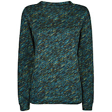 Buy Jaeger Diagonal Dash Print Sweatshirt, Multi/Blue Online at johnlewis.com