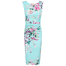 Buy Jolie Moi Floral Ruched Shift Dress, Aqua Online at johnlewis.com