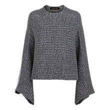 Buy Jaeger Cropped Cape Jumper, Grey Online at johnlewis.com