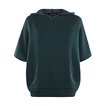 Buy Jaeger Double Faced Hooded Cape, Green Online at johnlewis.com