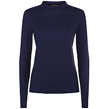 Buy Jaeger Ribbed Jumper, Midnight Online at johnlewis.com