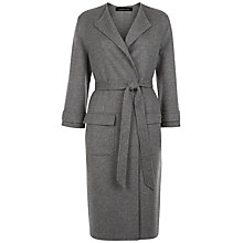 Buy Jaeger Double Faced Pocket Coat, Light Grey Online at johnlewis.com