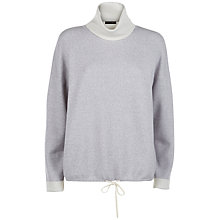 Buy Jaeger Double Faced Wool Sweater, Grey Melange / Ivory Online at johnlewis.com