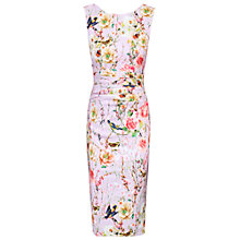 Buy Jolie Moi Floral Ruched Shift Dress, Pink Online at johnlewis.com