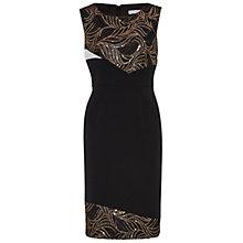 Buy Gina Bacconi Mesh Sequin Cut Out Waves Panel Dress, Black Online at johnlewis.com