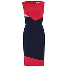 Buy Gina Bacconi Stretch Moss Crepe Panel Dress, Spring Navy Online at johnlewis.com