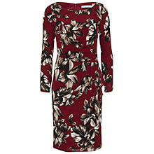 Buy Gina Bacconi Etched Floral Crepe Georgette Dress, Claret Online at johnlewis.com